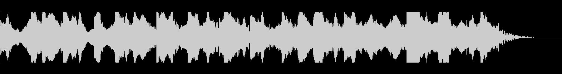 不穏な雰囲気のBGMの未再生の波形
