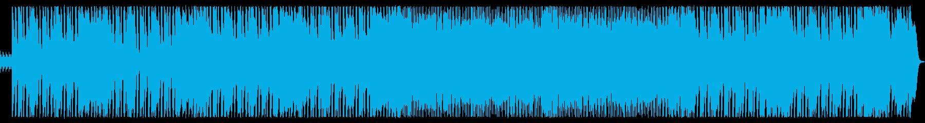 明るく軽快なロックの再生済みの波形