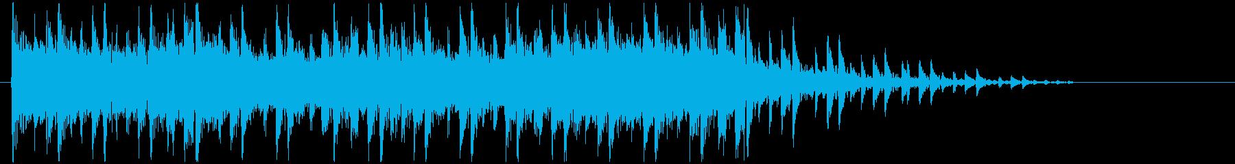 スピーディーで軽快なゲーム風ジングルの再生済みの波形