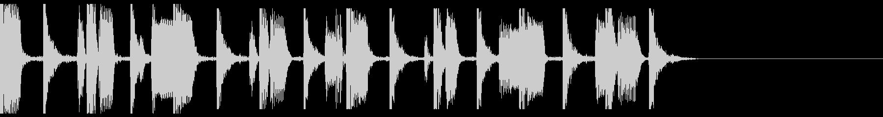 ベース音が際立つシンキングタイム音の未再生の波形