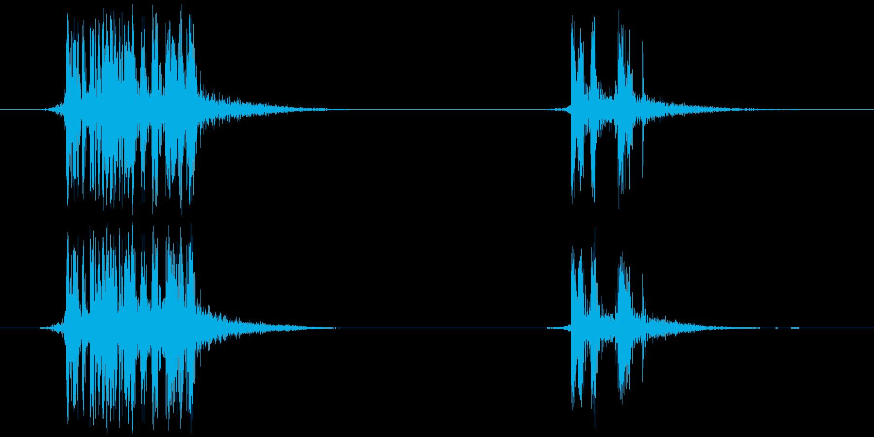 テープを切る(ビ、ビッ)の再生済みの波形