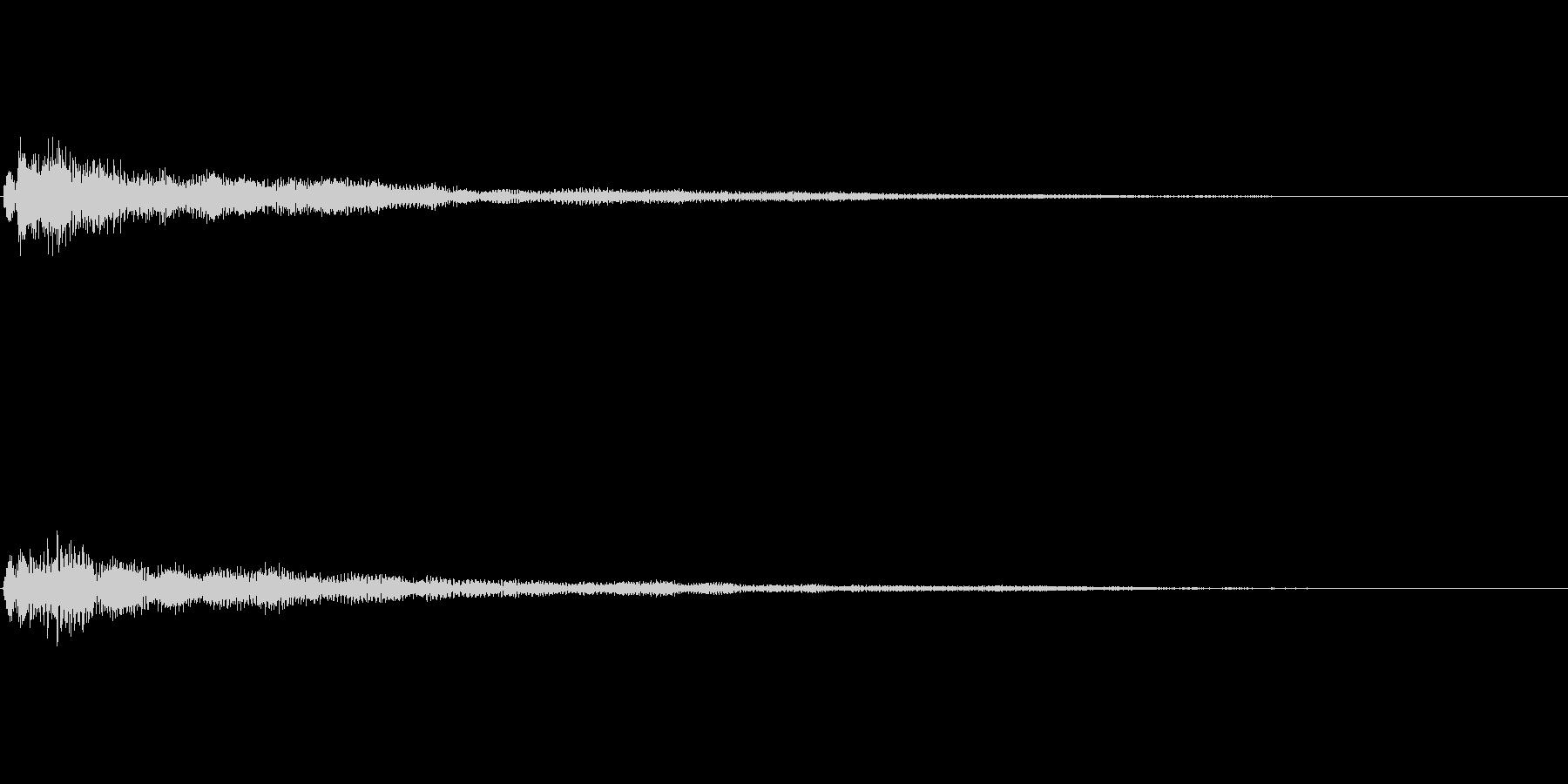 ファンタジー かわいい効果音 決定系10の未再生の波形