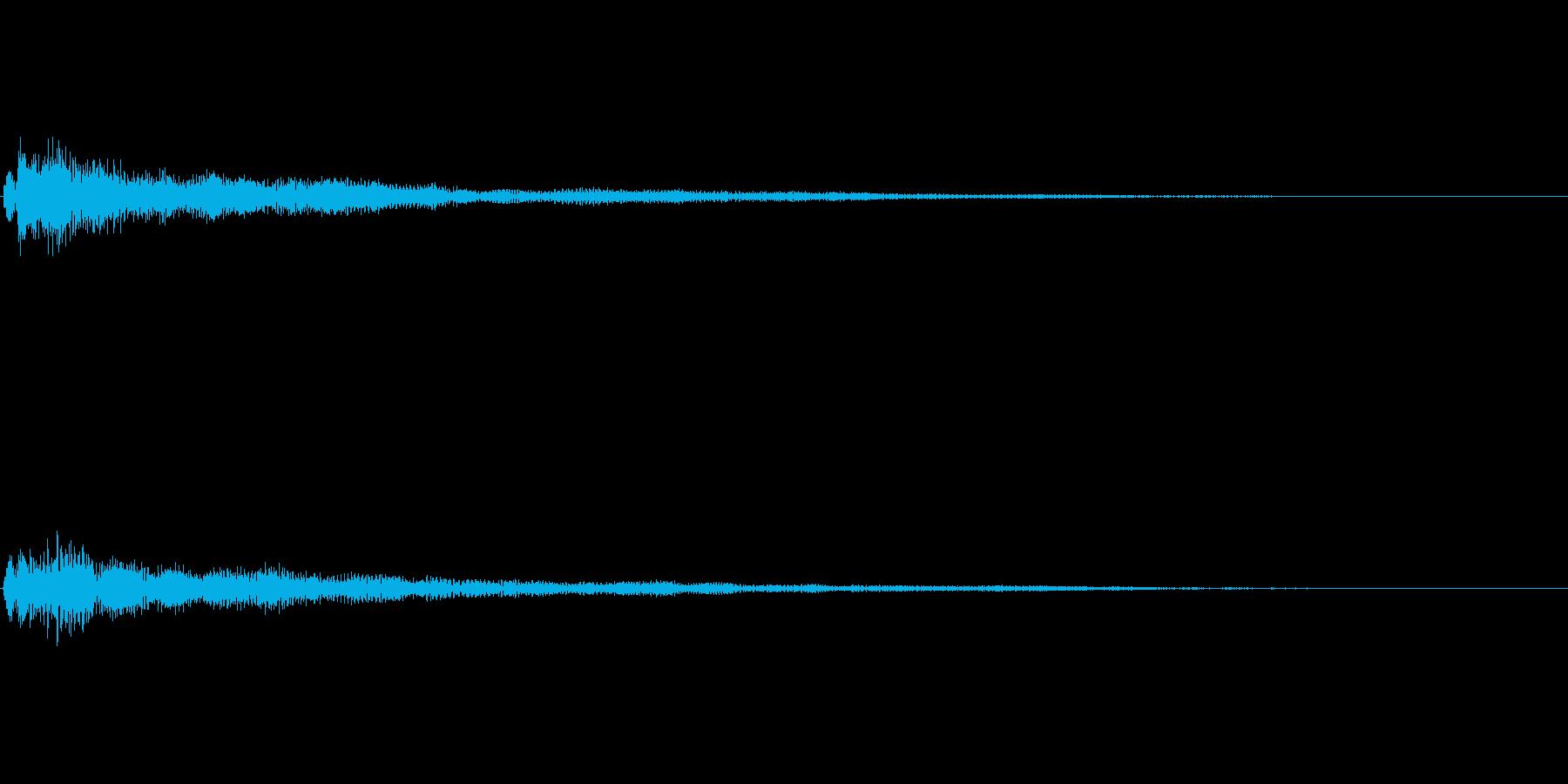 ファンタジー かわいい効果音 決定系10の再生済みの波形