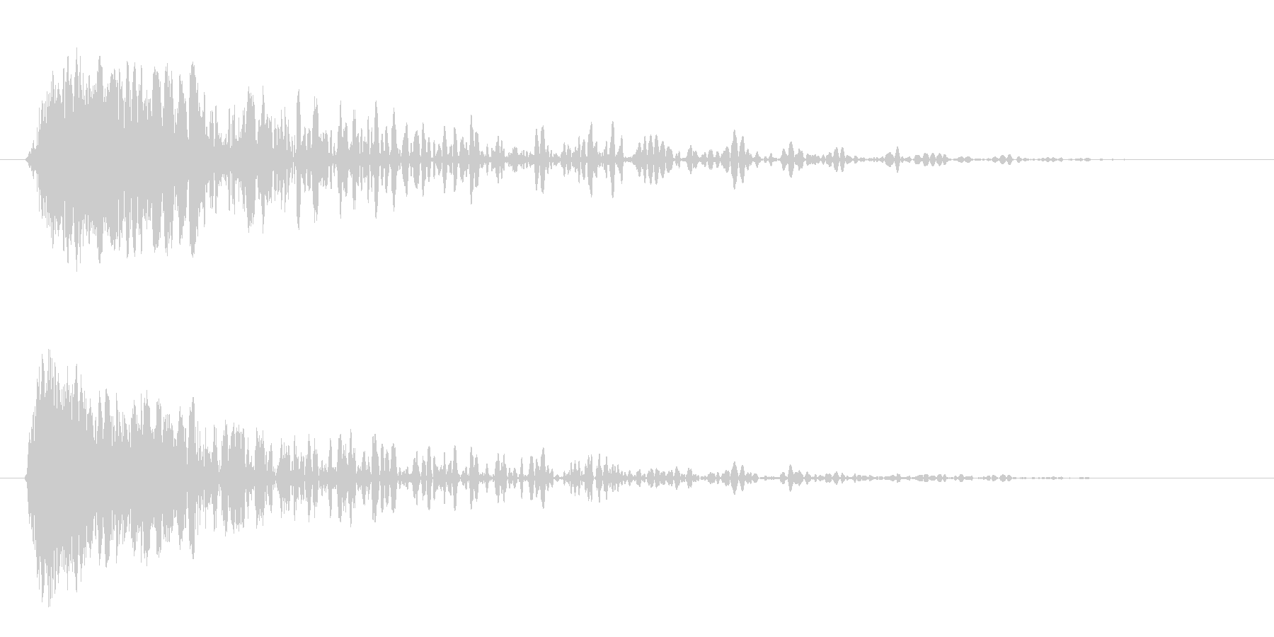 パンチの短いインパクトヒット3の未再生の波形