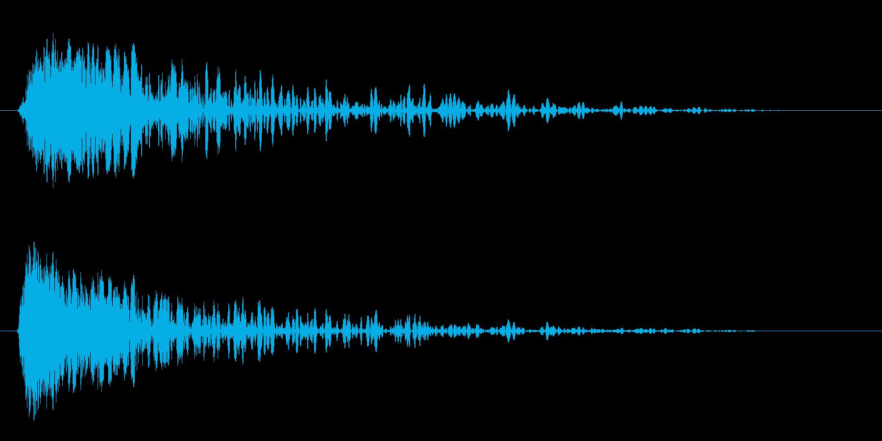 パンチの短いインパクトヒット3の再生済みの波形