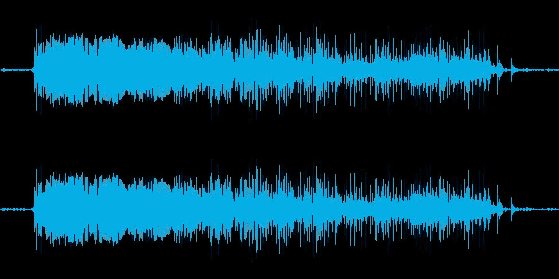 うわあ(濁っている感じ)の再生済みの波形