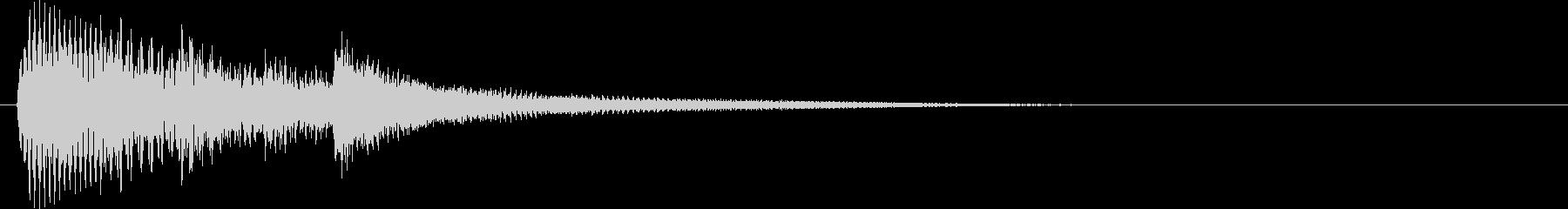 ベルのサウンドロゴ音可愛く幻想的の未再生の波形