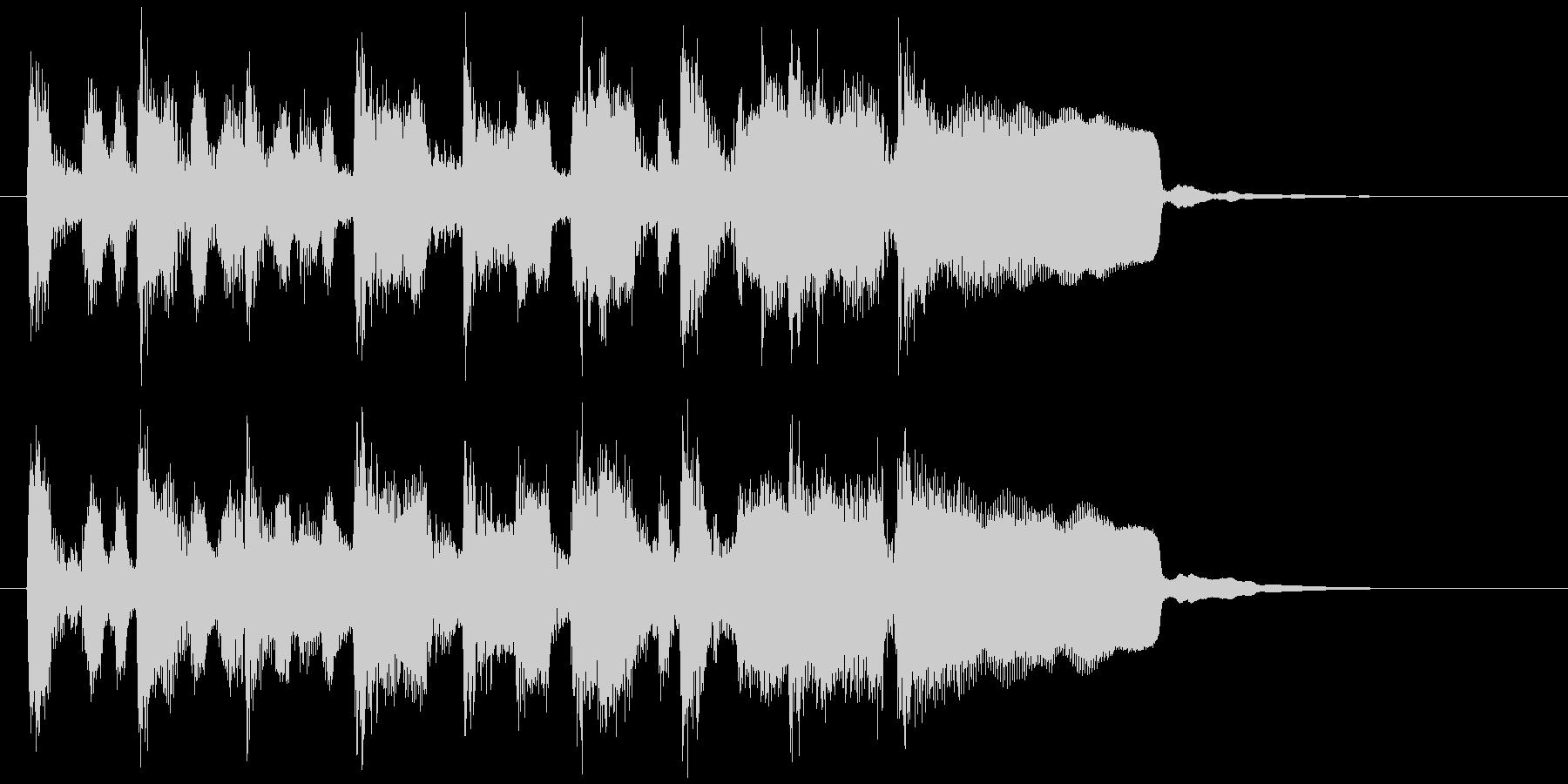キッズ系アイキャッチ、ポップなリコーダーの未再生の波形