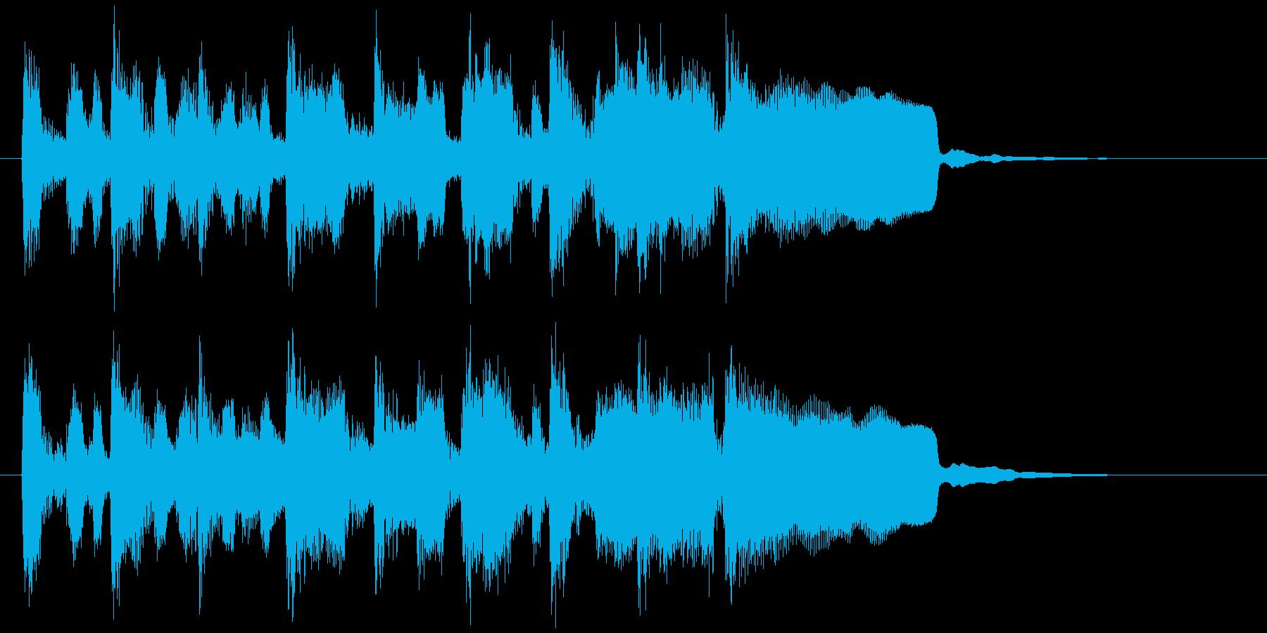 キッズ系アイキャッチ、ポップなリコーダーの再生済みの波形