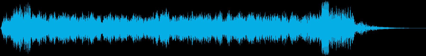 巨大な電動ボールドア:閉じてロック...の再生済みの波形