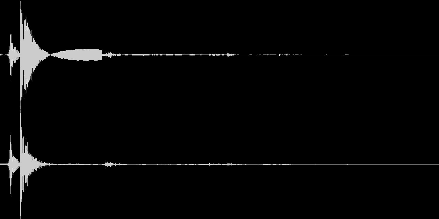 薪(まき)を置くの未再生の波形