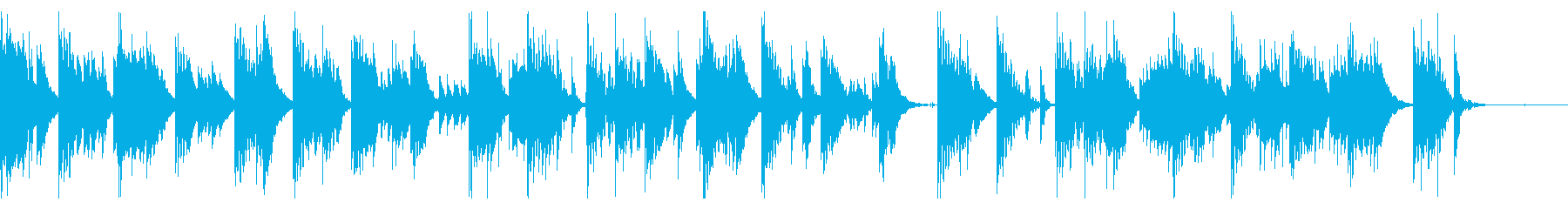 眠りにつき夢の中にいる様な優しい楽曲の再生済みの波形