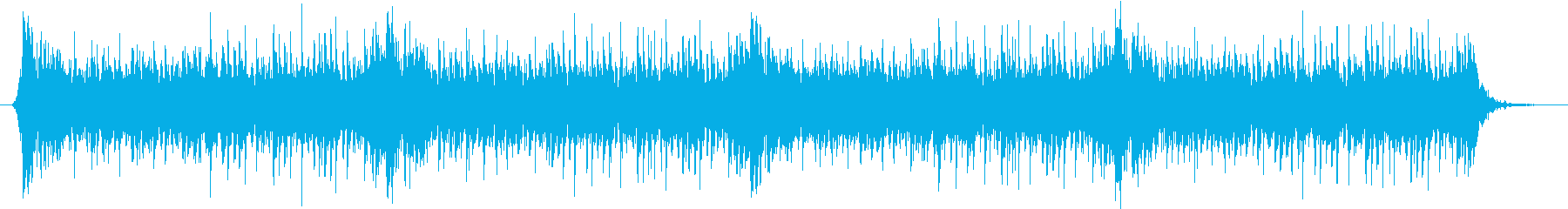 三味線のロック 和風の戦闘曲の再生済みの波形