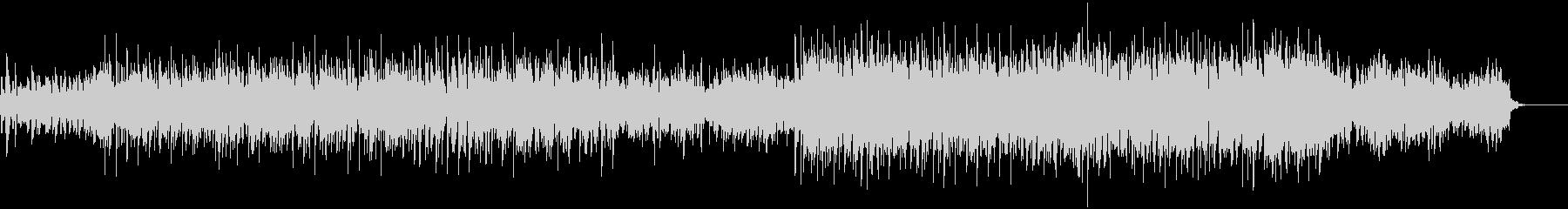 無機質なビートミュージックの未再生の波形