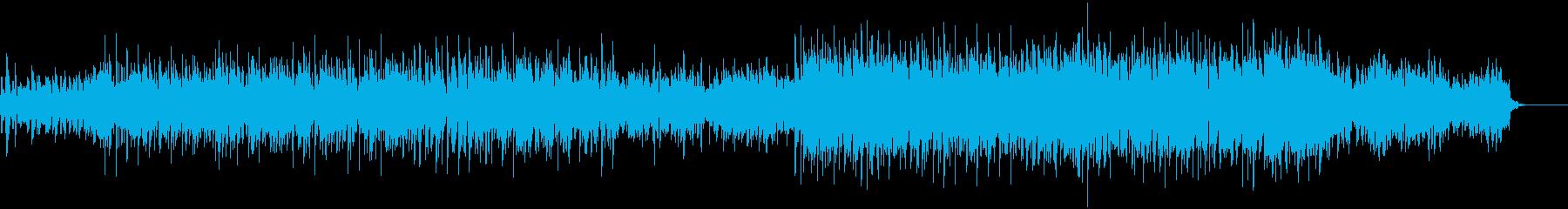 無機質なビートミュージックの再生済みの波形