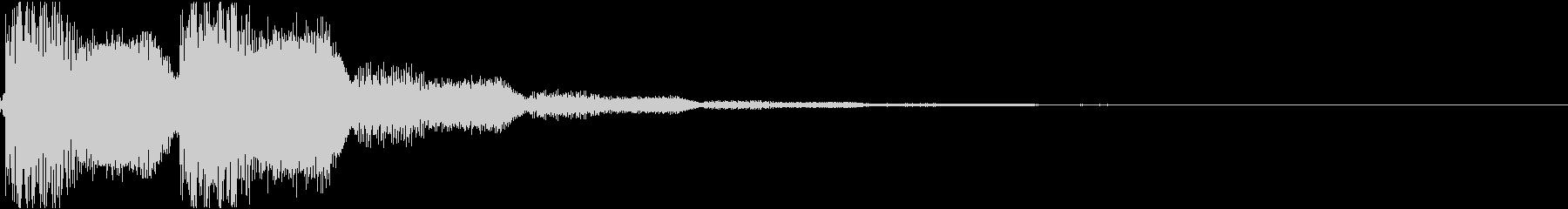 ブー:ラッパの衝撃音の未再生の波形