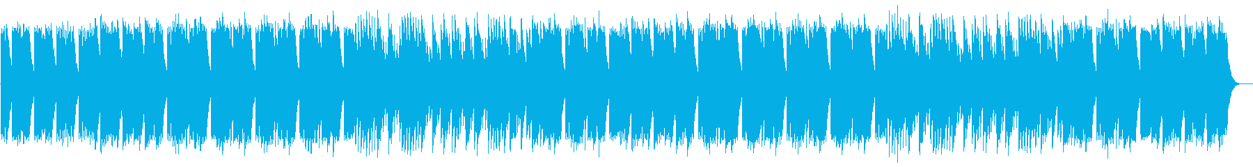 リズミカルなヒーリングミュージックの再生済みの波形