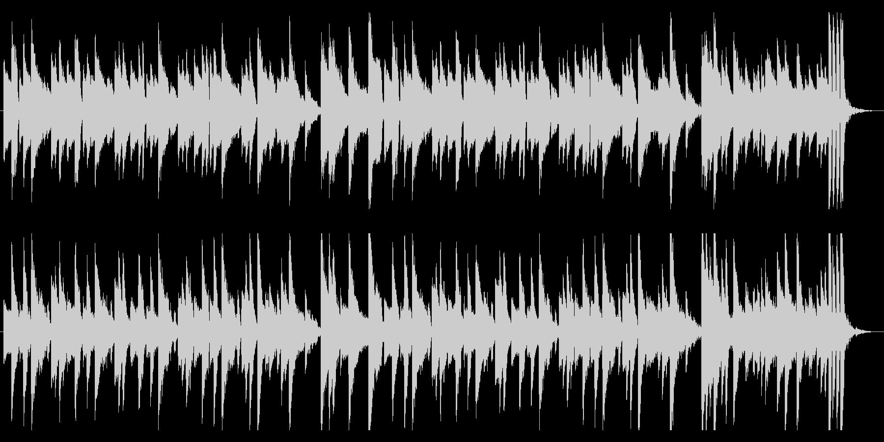 説明や日常に使えるシンプルなピアノ曲の未再生の波形