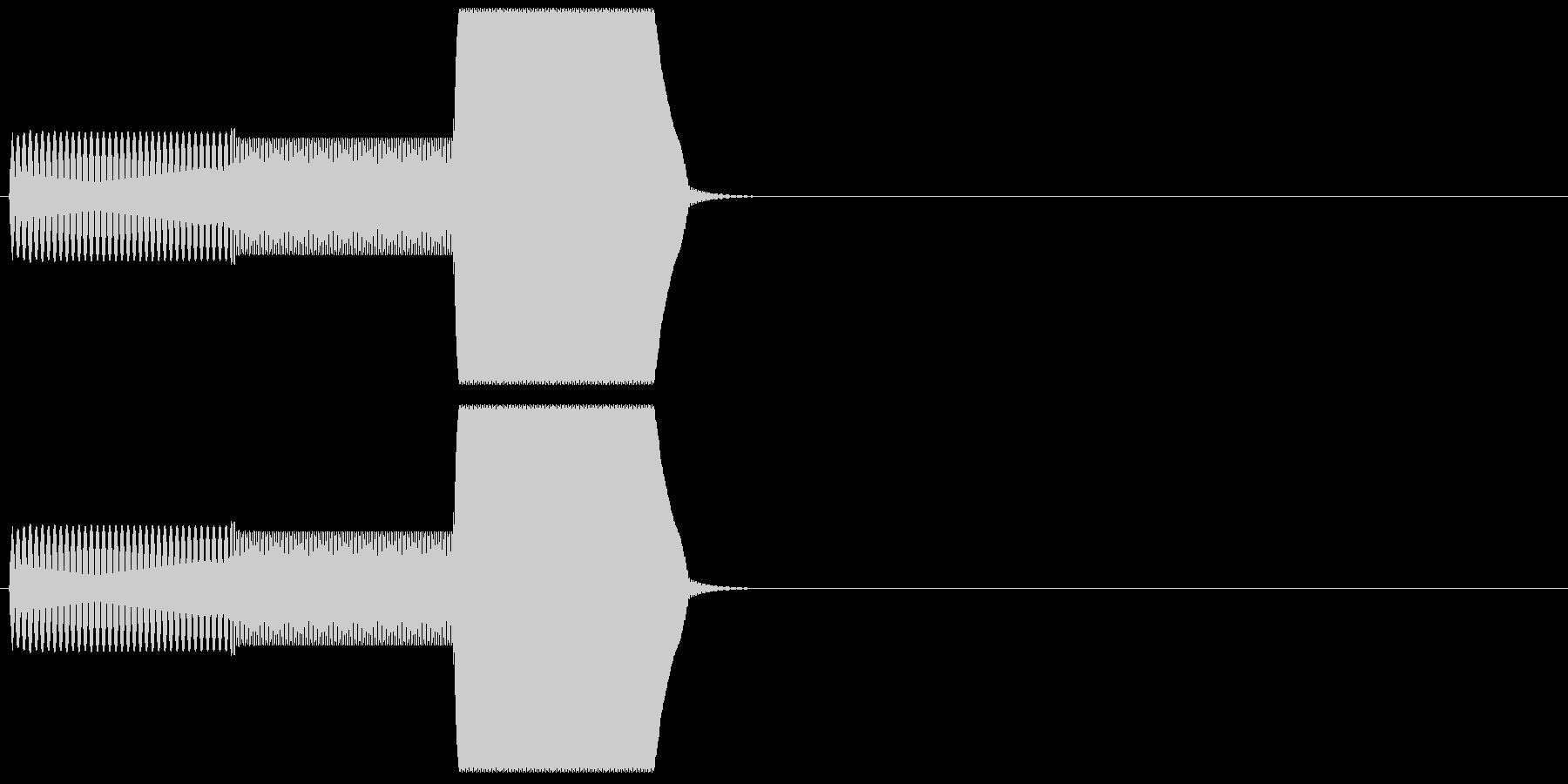 ゲーム系カーソル選択音01 (戻る)の未再生の波形