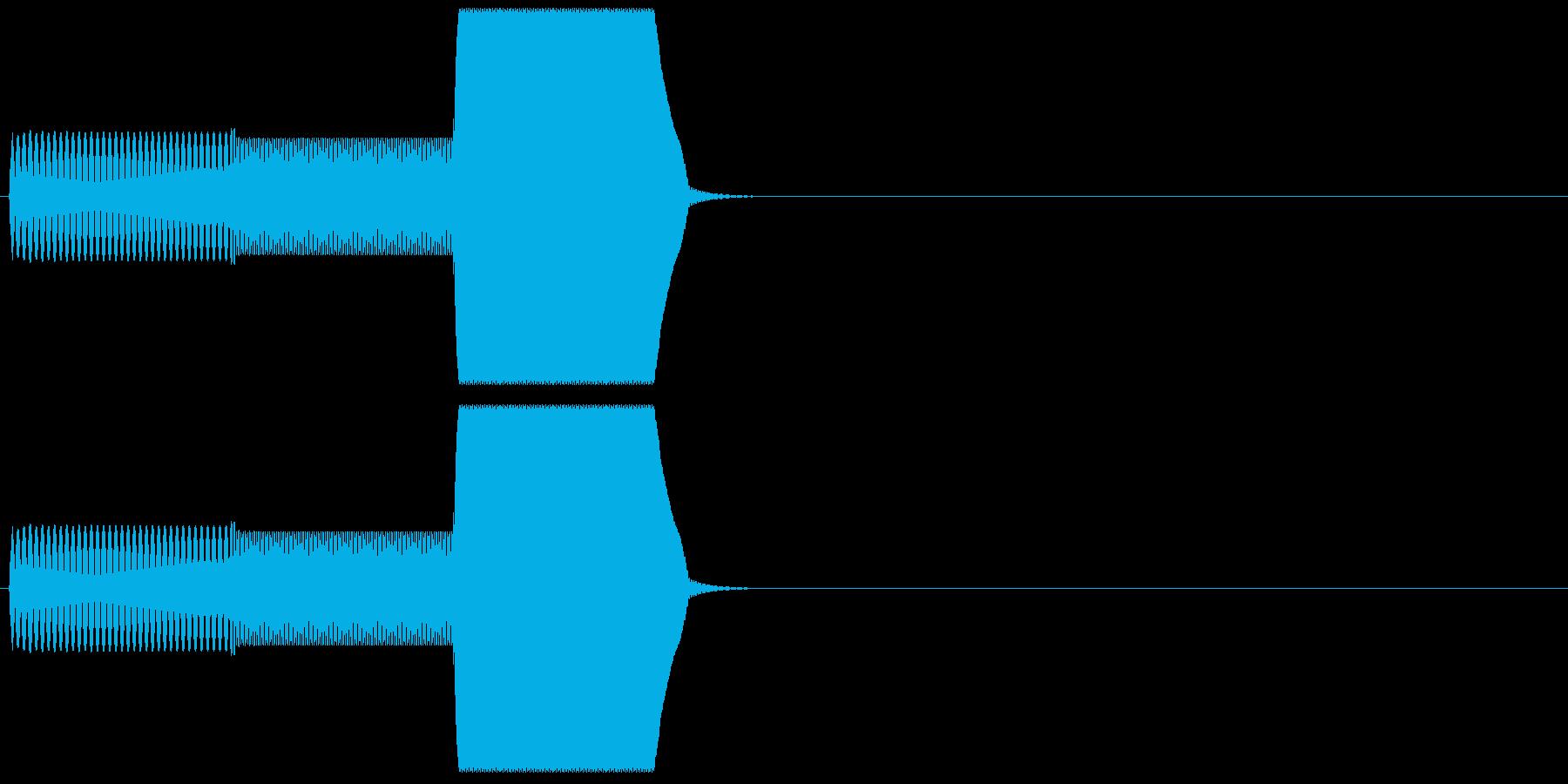 ゲーム系カーソル選択音01 (戻る)の再生済みの波形