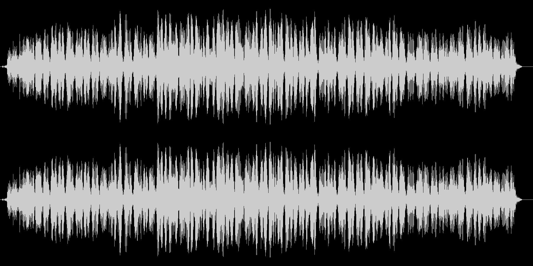 うがいの音です、(ガラガラ)の未再生の波形