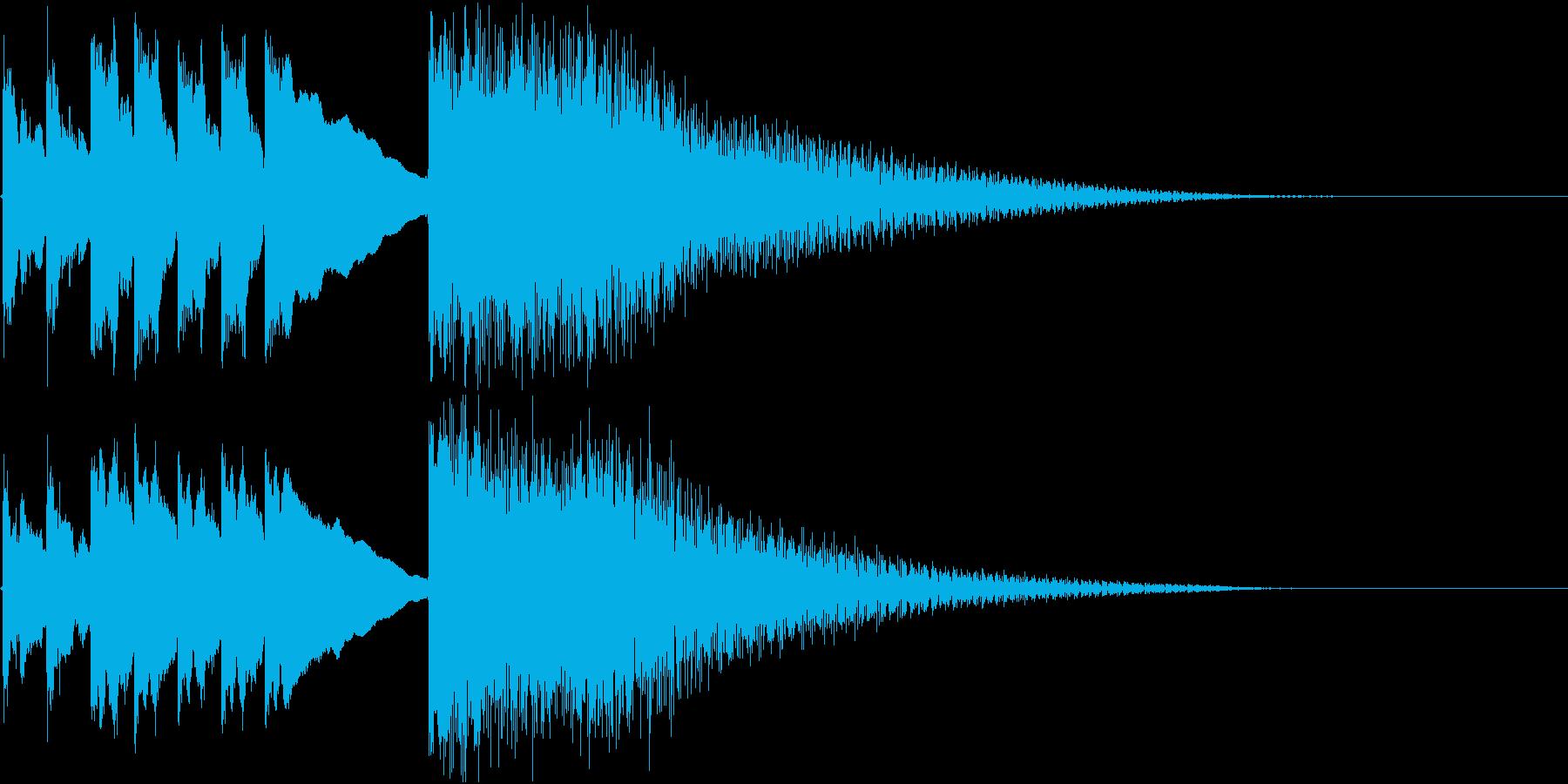 和風 箏(琴)テケテケテケージャララランの再生済みの波形