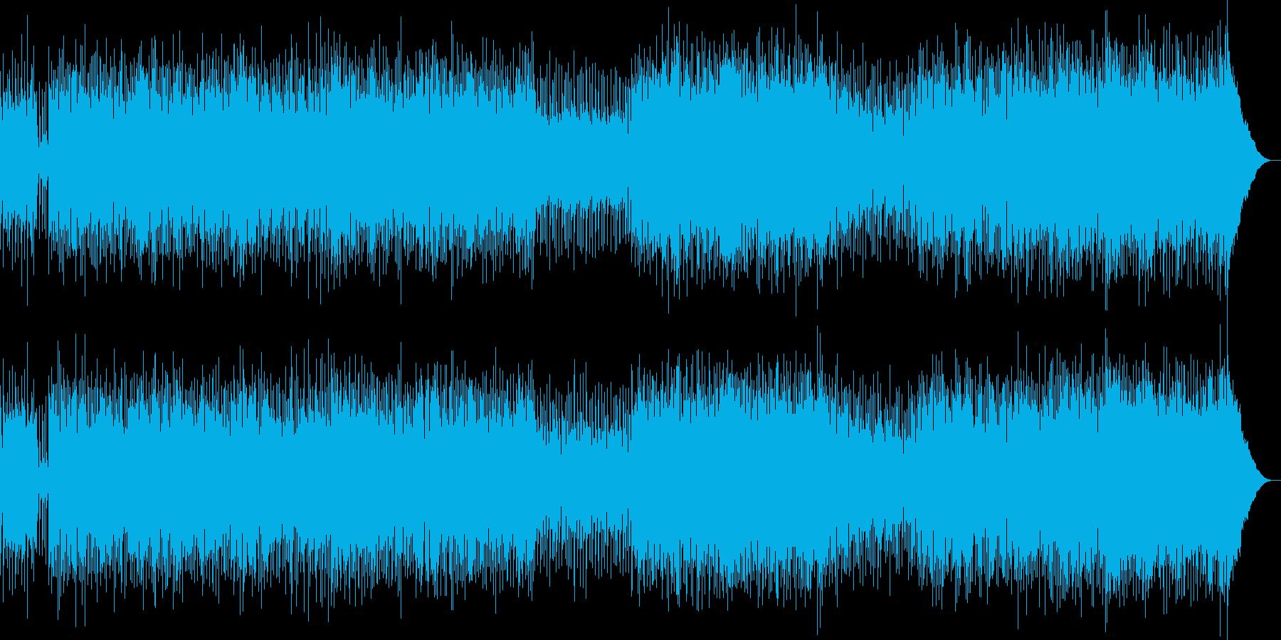 力強く演奏するポップ・ロックの再生済みの波形