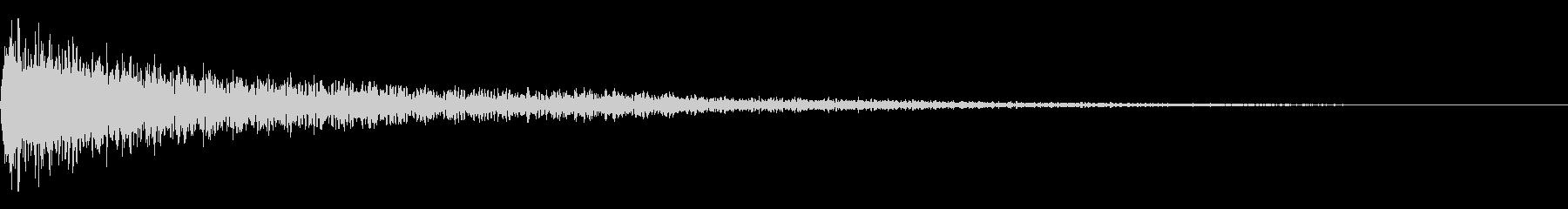 予感 不穏 ピアノ02の未再生の波形