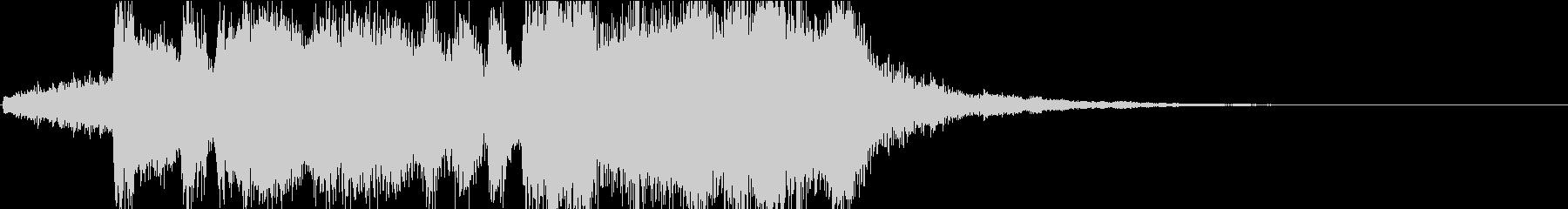 レベルアップ!オーケストラファンファーレの未再生の波形