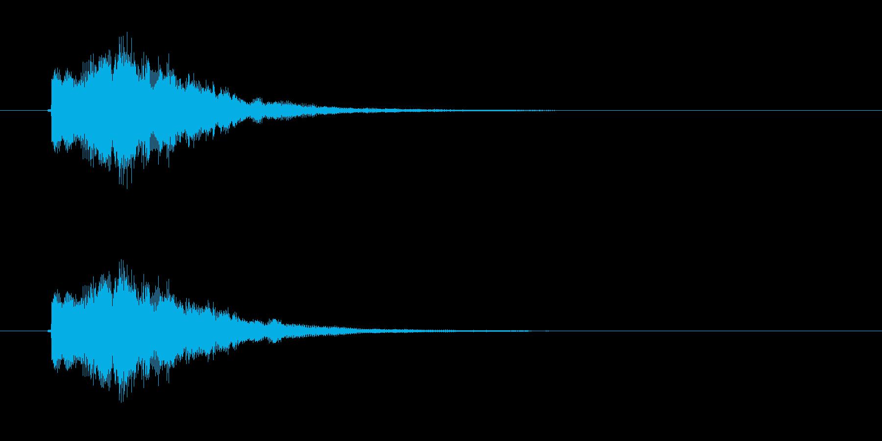 ピロロン(高音のお知らせ音)の再生済みの波形