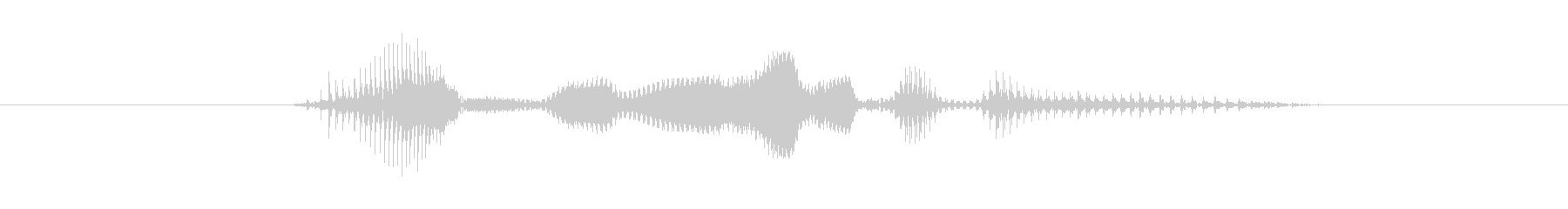 Unbelievable(テンション低)の未再生の波形