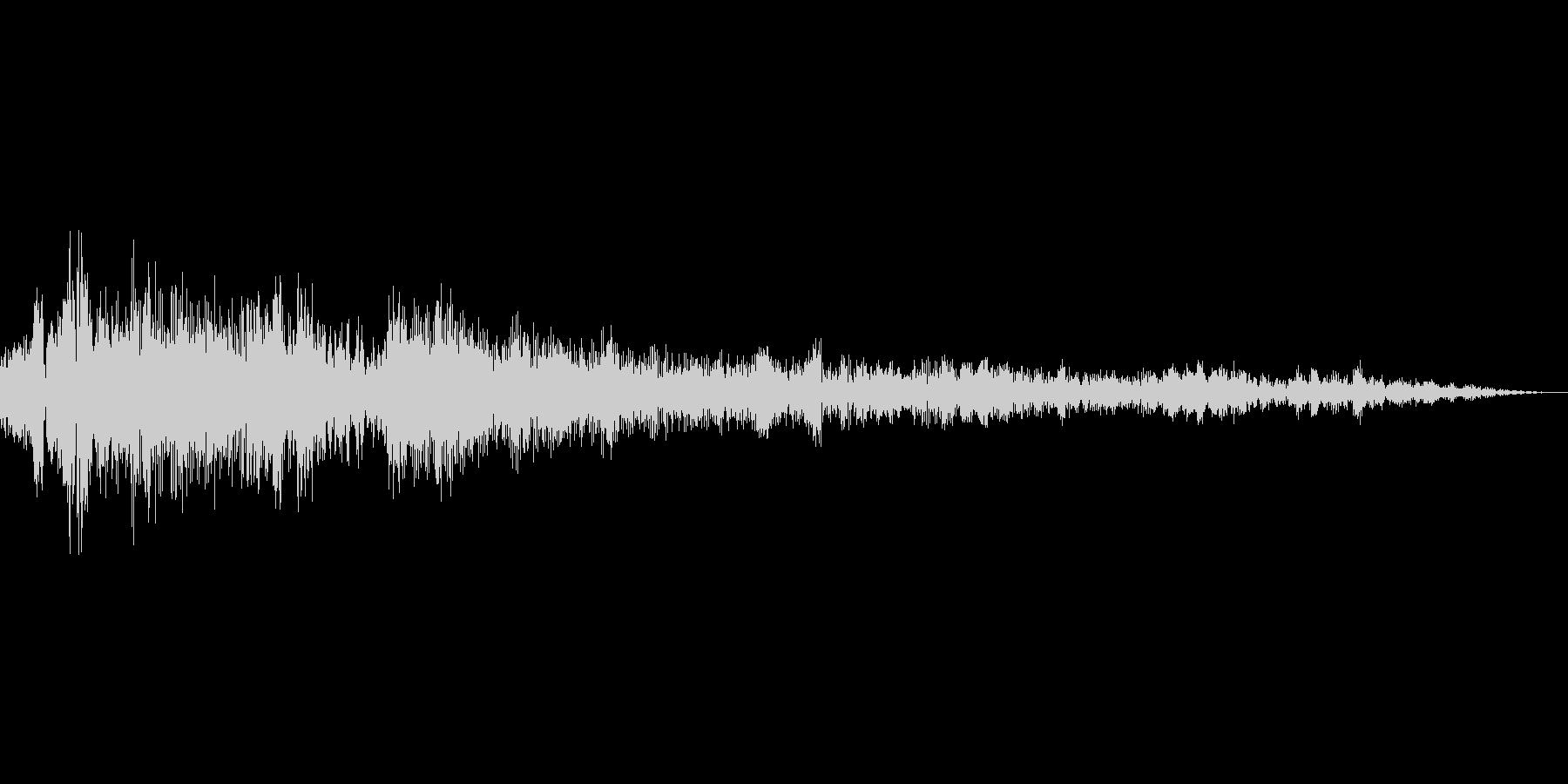 アイテム購入音の未再生の波形