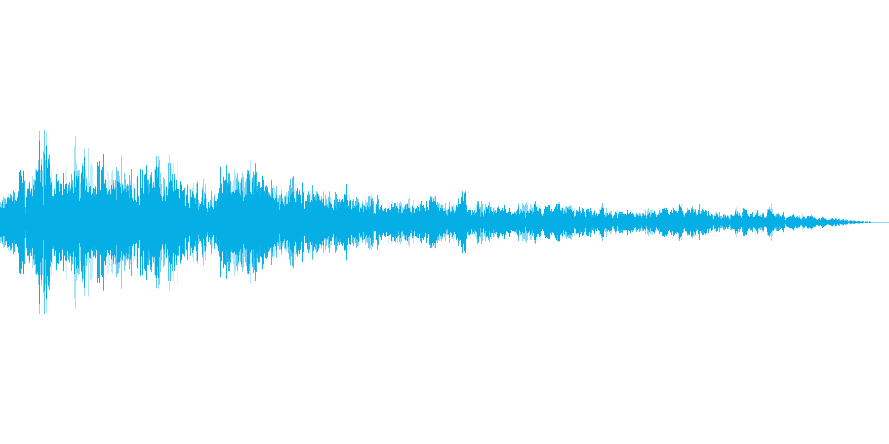 アイテム購入音の再生済みの波形