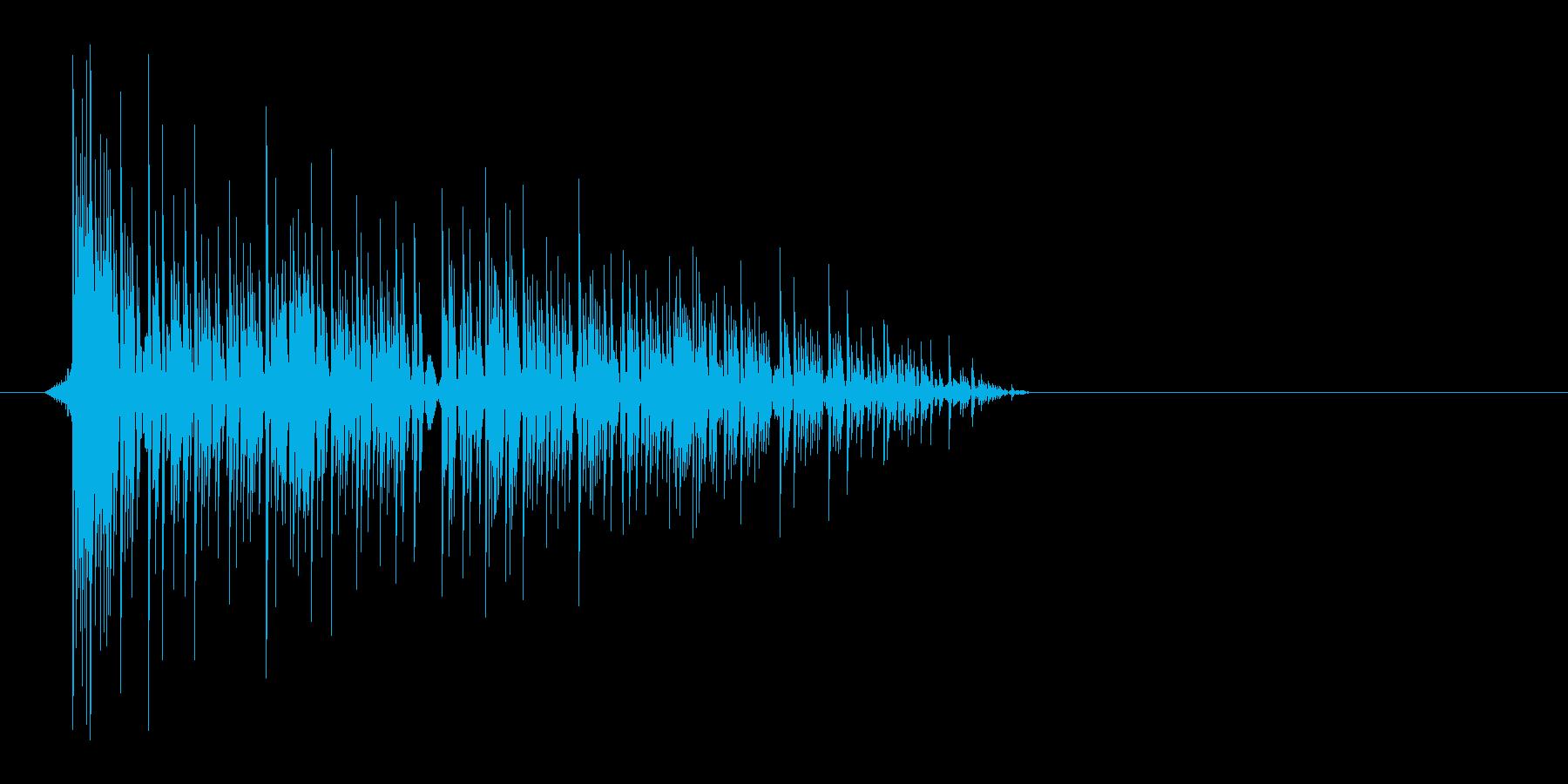 ゲーム(ファミコン風)爆発音_035の再生済みの波形