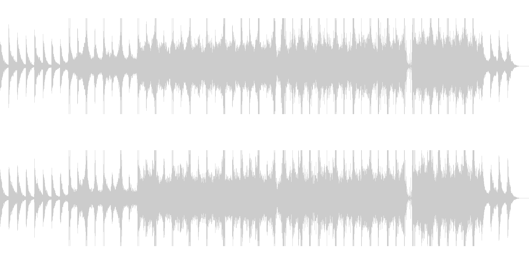 チェロのアルペジオが印象的なアンビエントの未再生の波形