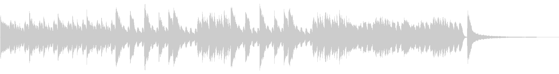 SNS広告 ピアノメイン きれいの未再生の波形