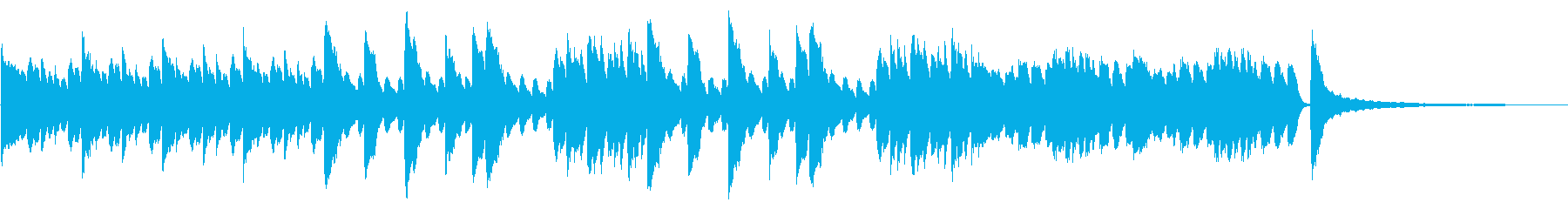 SNS広告 ピアノメイン きれいの再生済みの波形