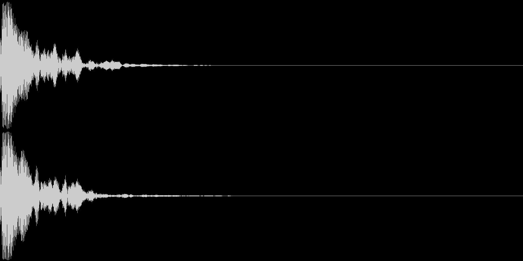 ポン(鼓の音・中くらい)の未再生の波形