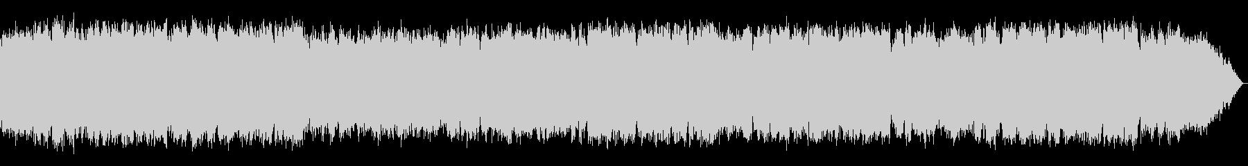 少し冷たい風のイメージ 竹笛のメロディの未再生の波形