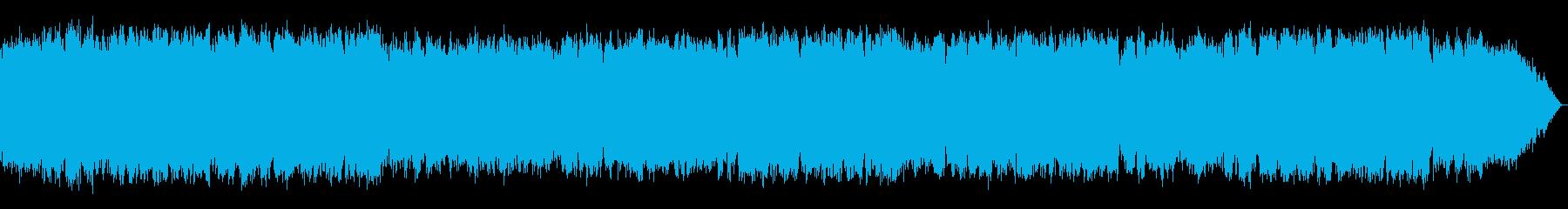 少し冷たい風のイメージ 竹笛のメロディの再生済みの波形