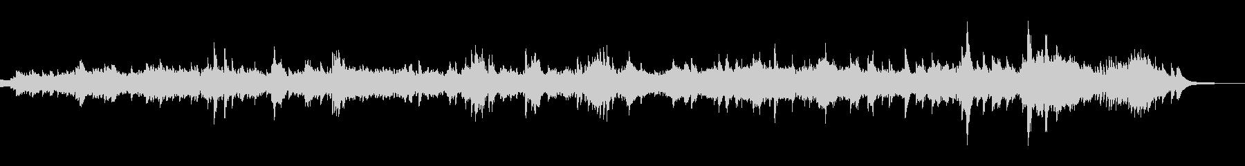 静かなピアノのクラシック音楽 ショパンの未再生の波形