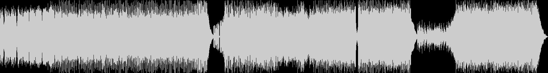 表裏の激しいエレクトロ楽曲の未再生の波形