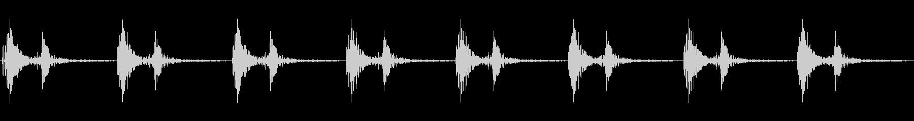 心臓の音ですの未再生の波形