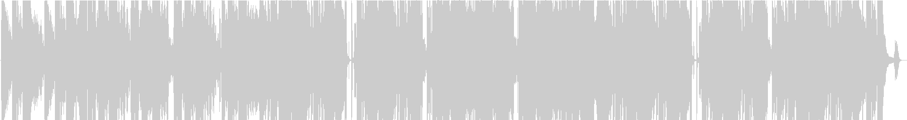 重厚なピアノのバラードの未再生の波形