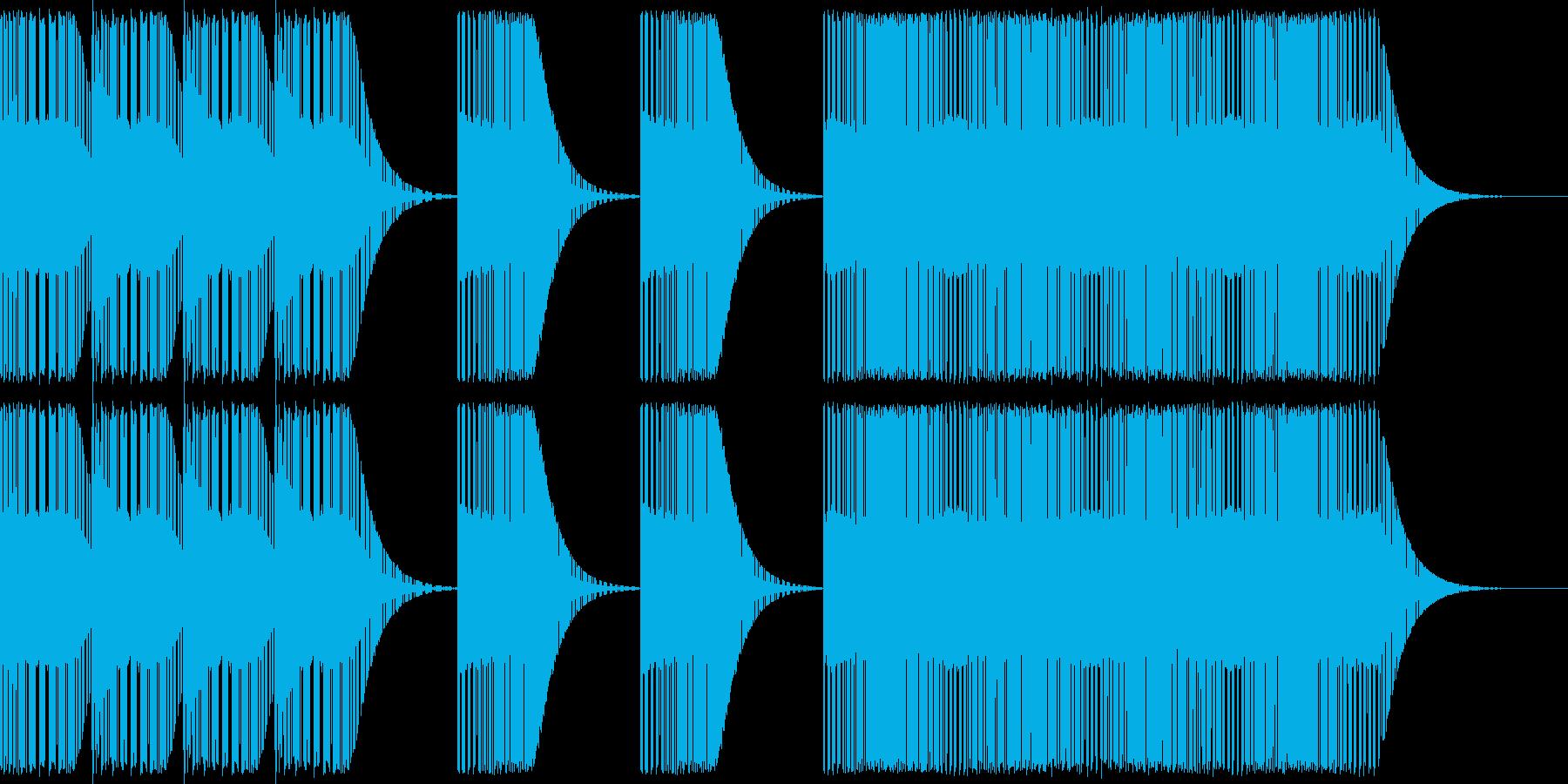 レトロゲームレベルアップ風ジングルの再生済みの波形