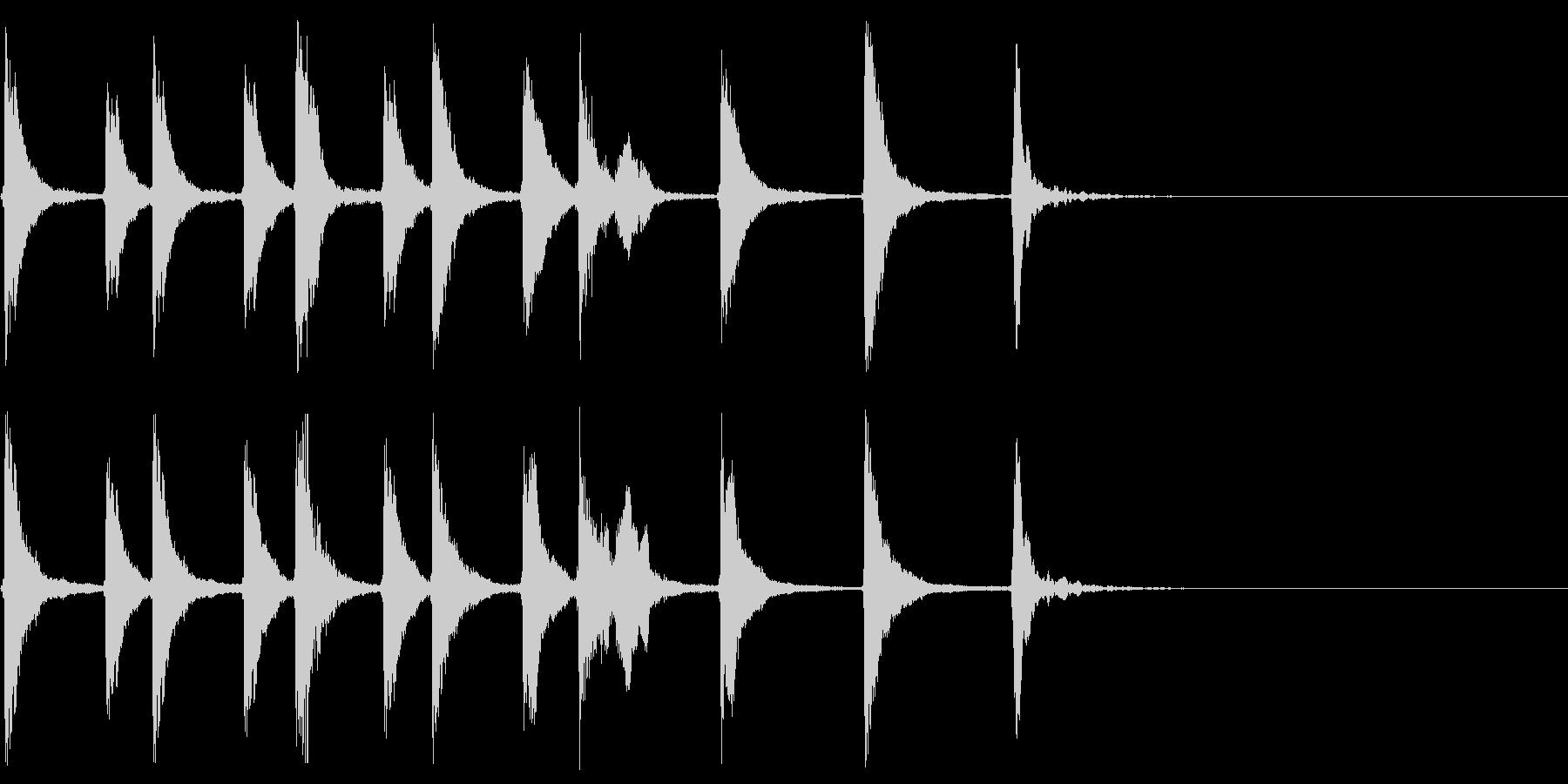 三味線などを使ったマヌケで愉快なジングルの未再生の波形