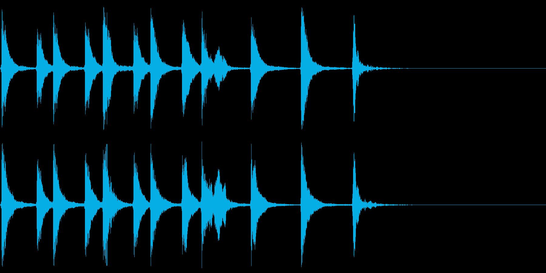 三味線などを使ったマヌケで愉快なジングルの再生済みの波形