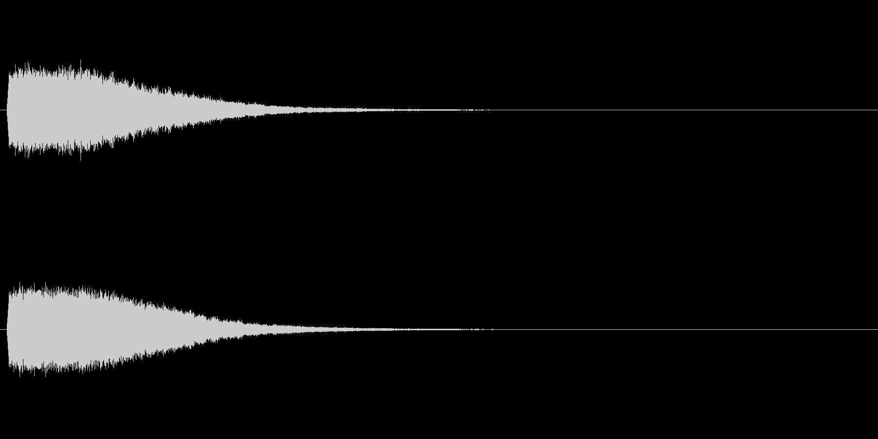 強いインパクトのある音[キュイーン]の未再生の波形