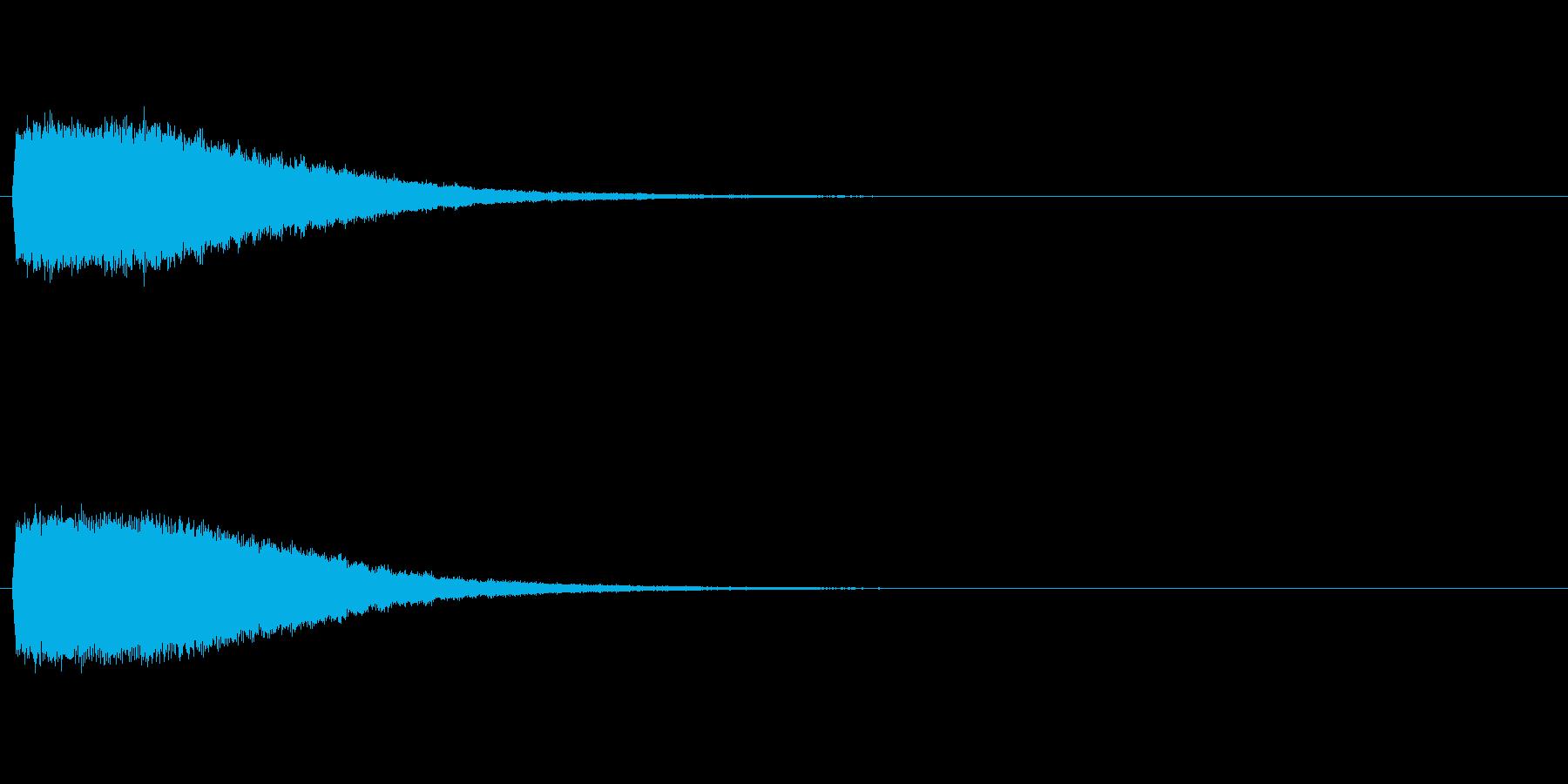 強いインパクトのある音[キュイーン]の再生済みの波形