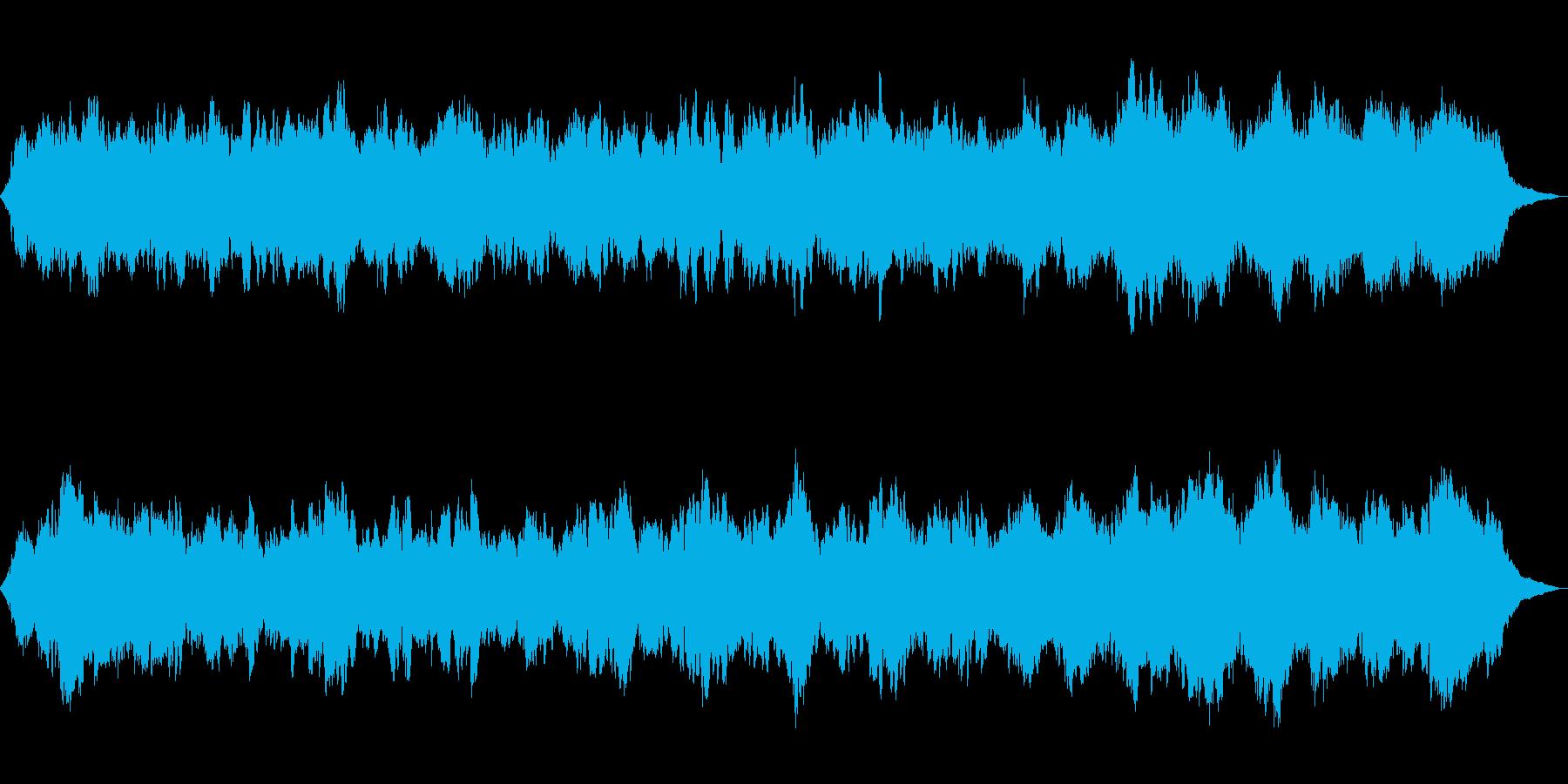 シンセサイザーの癒し リラクゼーションの再生済みの波形